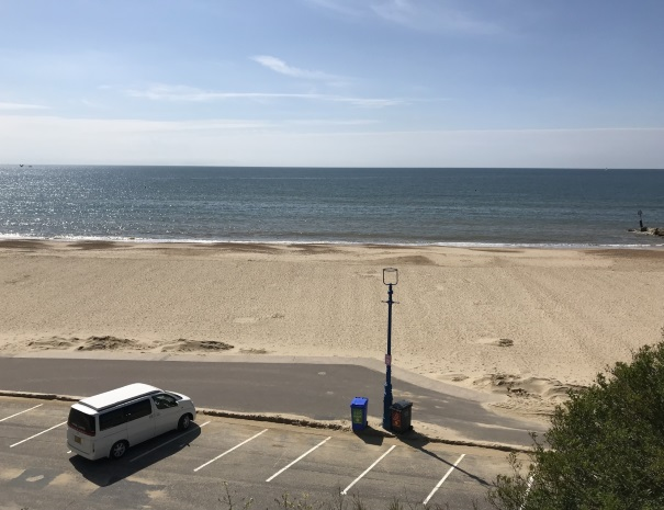 Campervan hire at the beach