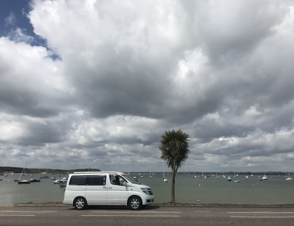 Campervan at Sandbanks