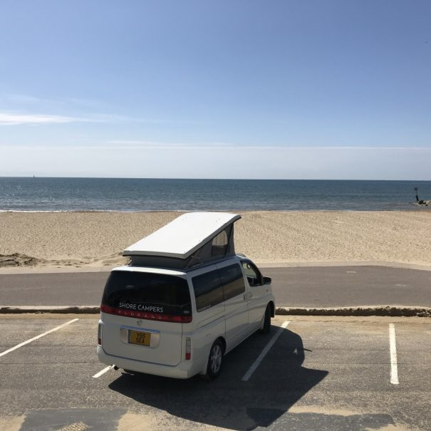 Campervan at Bournemouth Beach