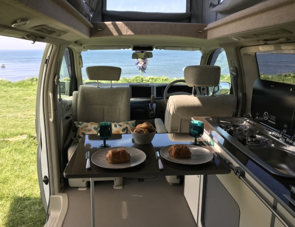 croissants for breakfast in the campervan