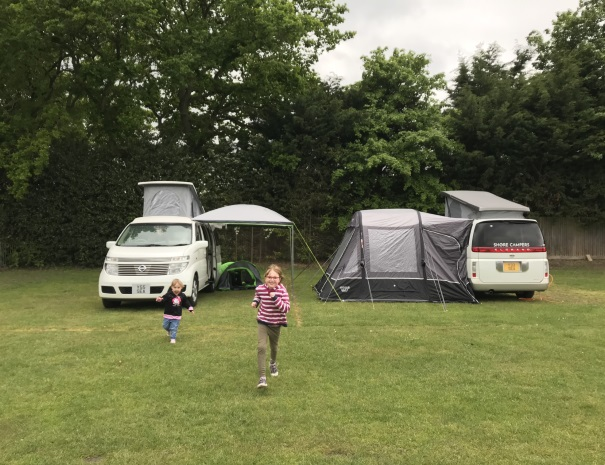 running from the campervans