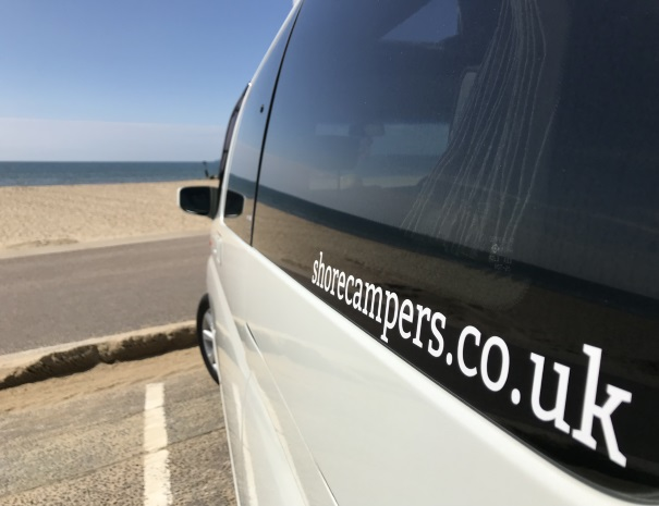 campervan hire website decal