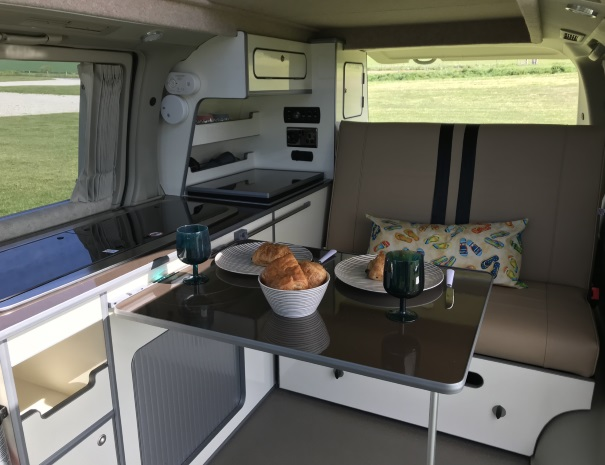 croissants in a campervan