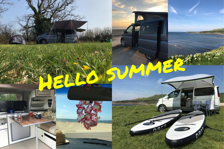 Hello Summer campervan montage