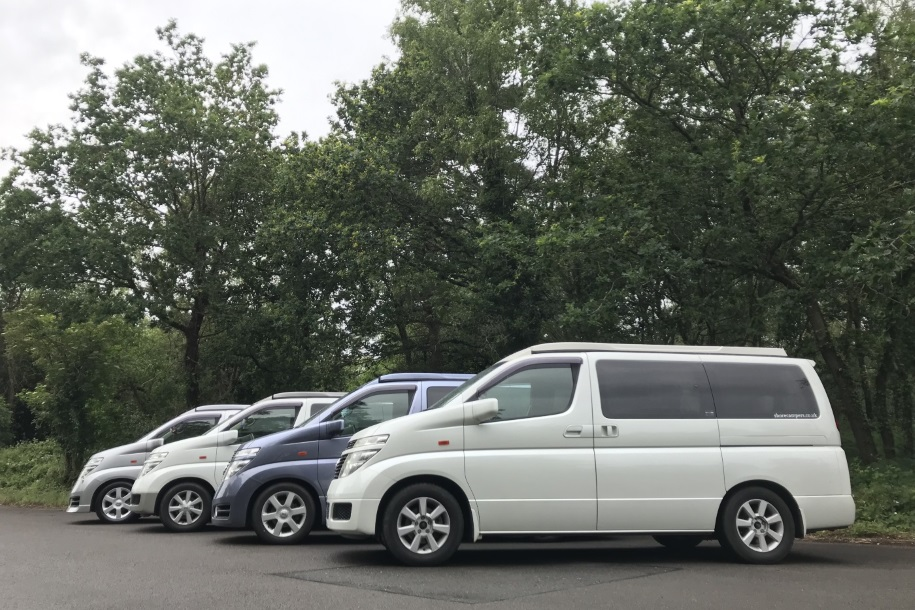 four nissan elgrand campervans