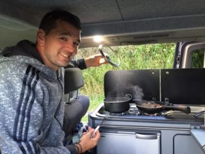 campervan cooking