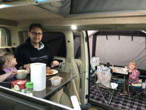 Campervan dinnertime
