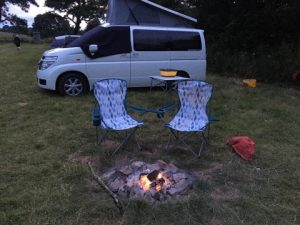 milo the campervan and campfire