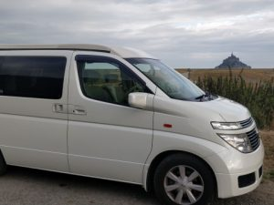 Milo the Campervan and Mont St Michel