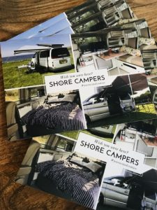 shore campers postcards