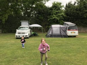 two campervans