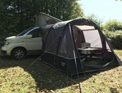 campervan with awning