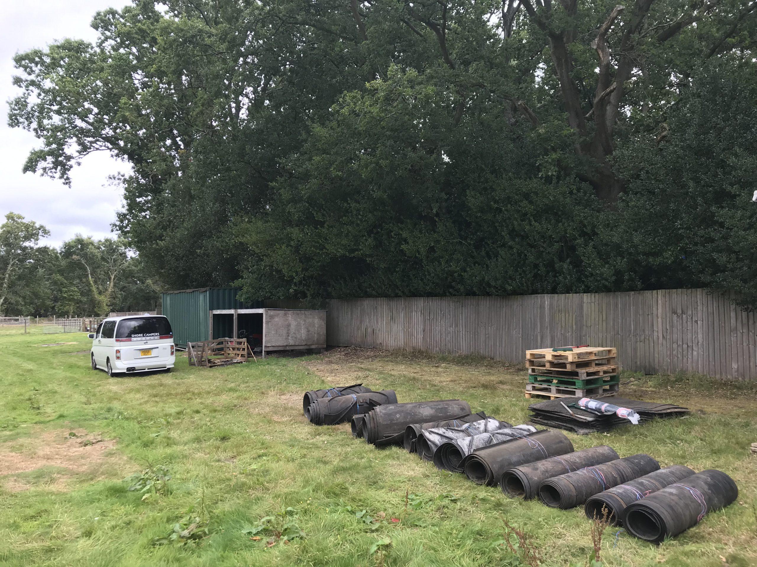 campervan parking field