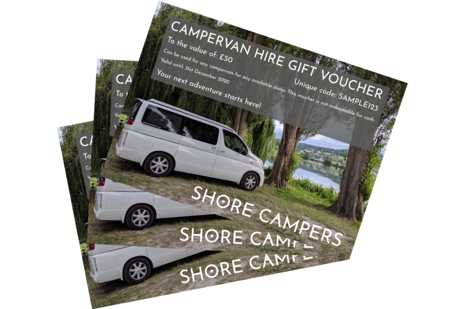 campervan gift vouchers transparent