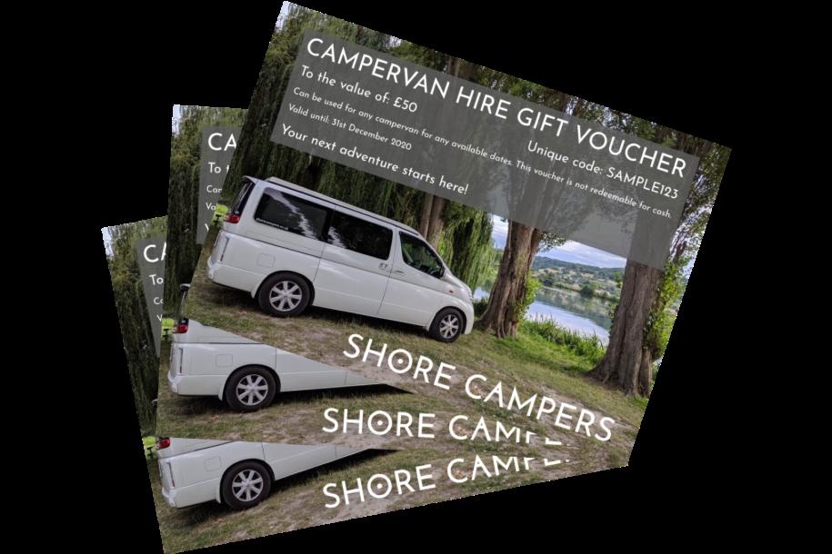 campervan gift vouchers transparent