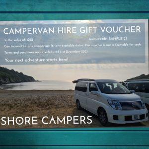 Campervan hire gift voucher