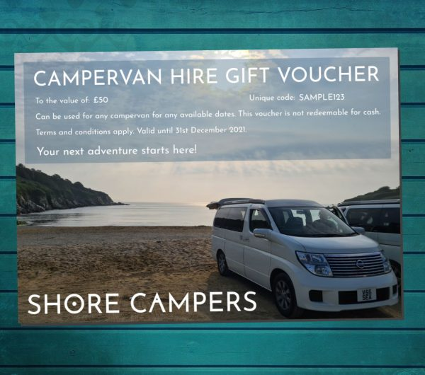 Campervan hire gift voucher