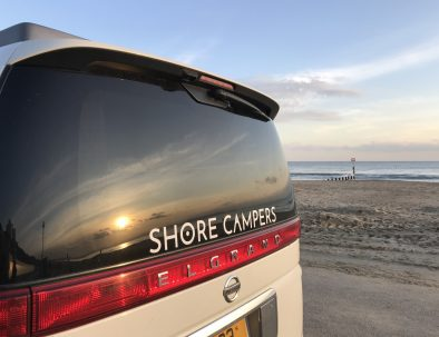 Shore Campers beach sunset