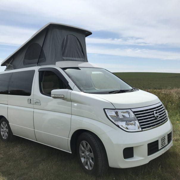 pop-top campervan
