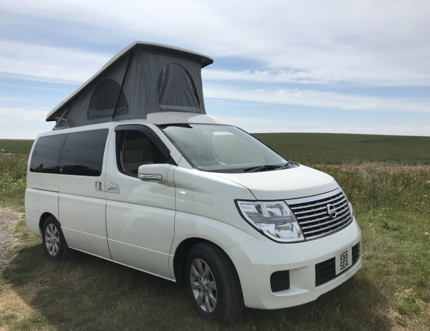 campervan with poptop
