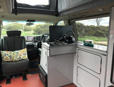 Inside Dale the Campervan
