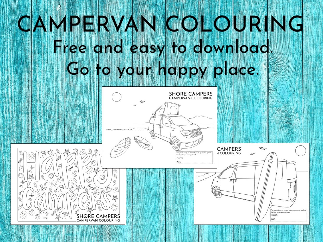 Free Campervan Colouring Sheets