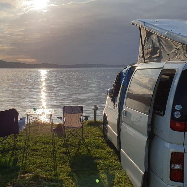 Campervan sea view