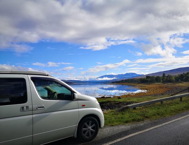 campervan by the lake