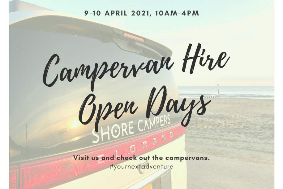 Campervan hire open days