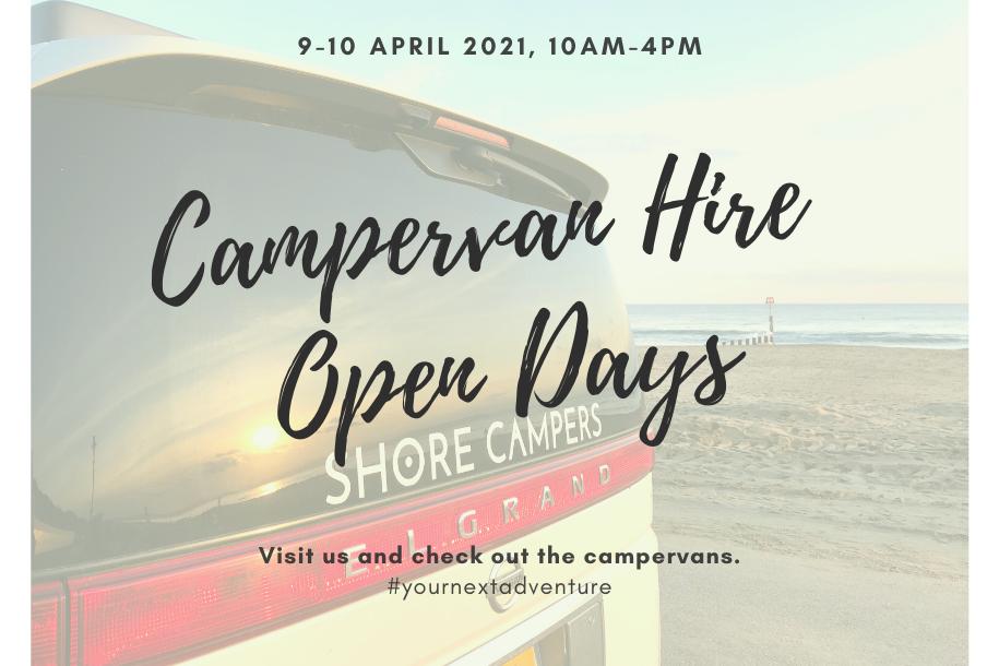 Campervan hire open days
