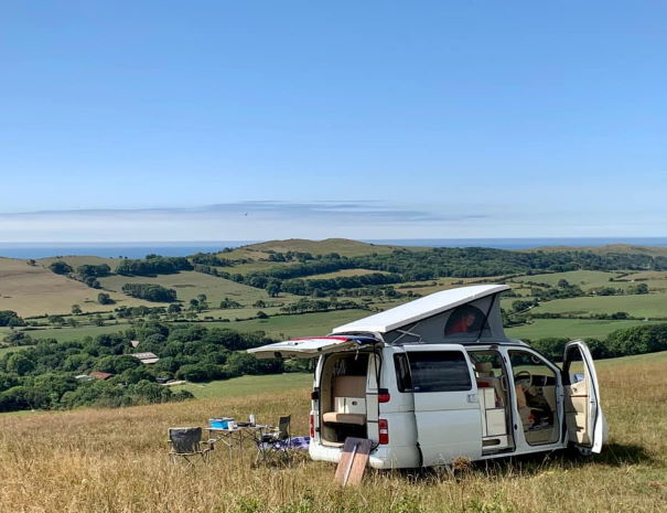 dorset coast campervan
