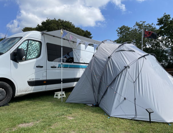 Renault Master campervan with awning